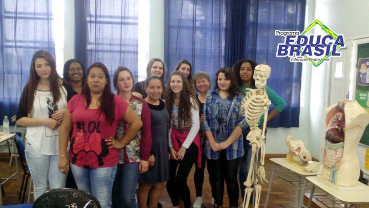 Aula de Anatomia | Turma do Curso na Área da Saúde e Farmácia | Santa Rosa/RS