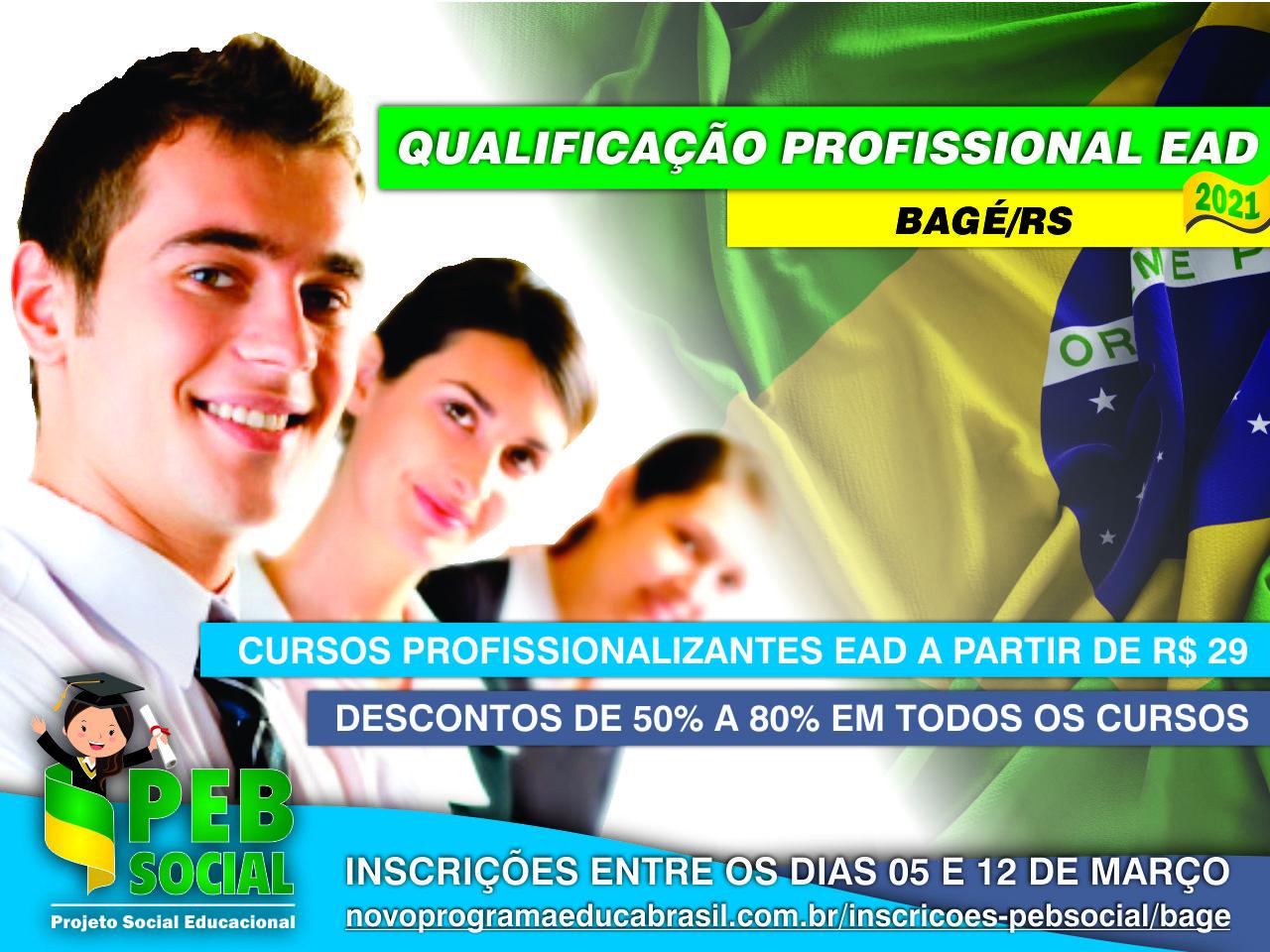 Qualificação Profissional EaD 2021 | PEB Social | Bagé/RS