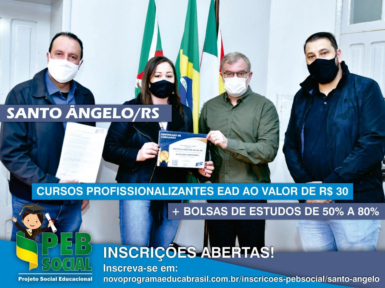 Qualificação Profissional EAD 2021 | PEB Social | Santo Ângelo/RS