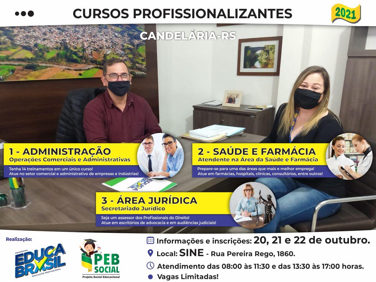 PEB Social   Cursos Profissionalizantes 2021   Candelária/RS