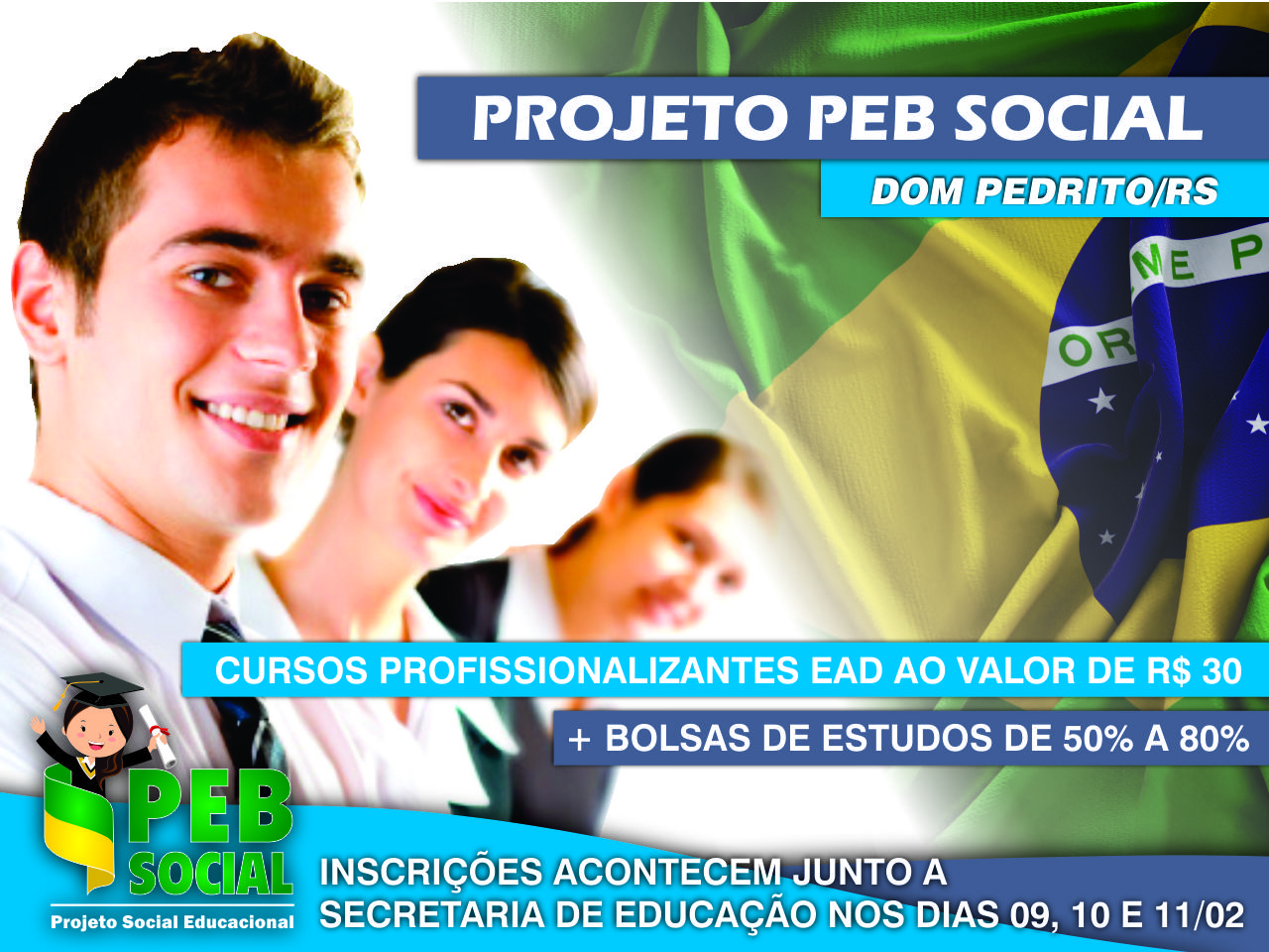Qualificação Profissional EaD 2021 | PEB Social | Dom Pedrito/RS