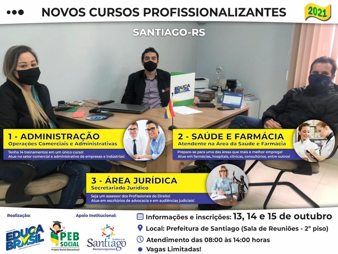 PEB Social   Cursos Profissionalizantes 2021   Santiago/RS